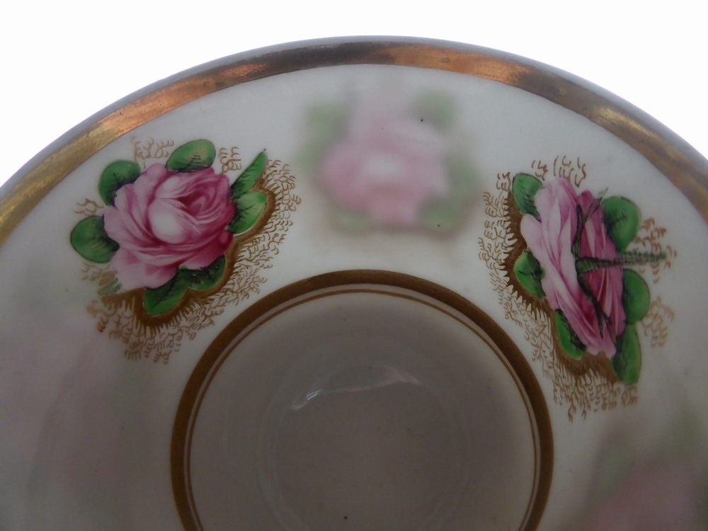 Coffee cup, pattern 2812, detail showing the translucency of Spode's bone china
