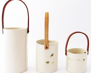The Utility Collection- combining porcelain, leather & metals